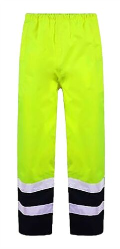 Hi Vis Viz Trouser Workwear High Visibility Work Mens Ladies Reflective