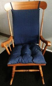Image Is Loading Indoor Outdoor Blue Rocking Chair Cushion Set By