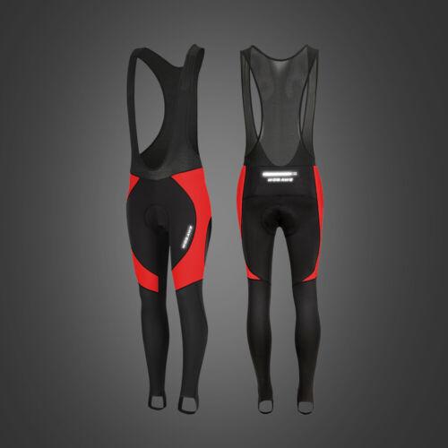 Men/'s Cycling Bib Tights Winter Thermal Padded Pants Leggings MTB Bike Trousers