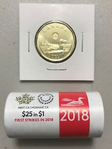 CANADA-2018-New-1-LOONIE-ORIGINAL-COMMON-LOON-UNC-Directly-from-mint-roll