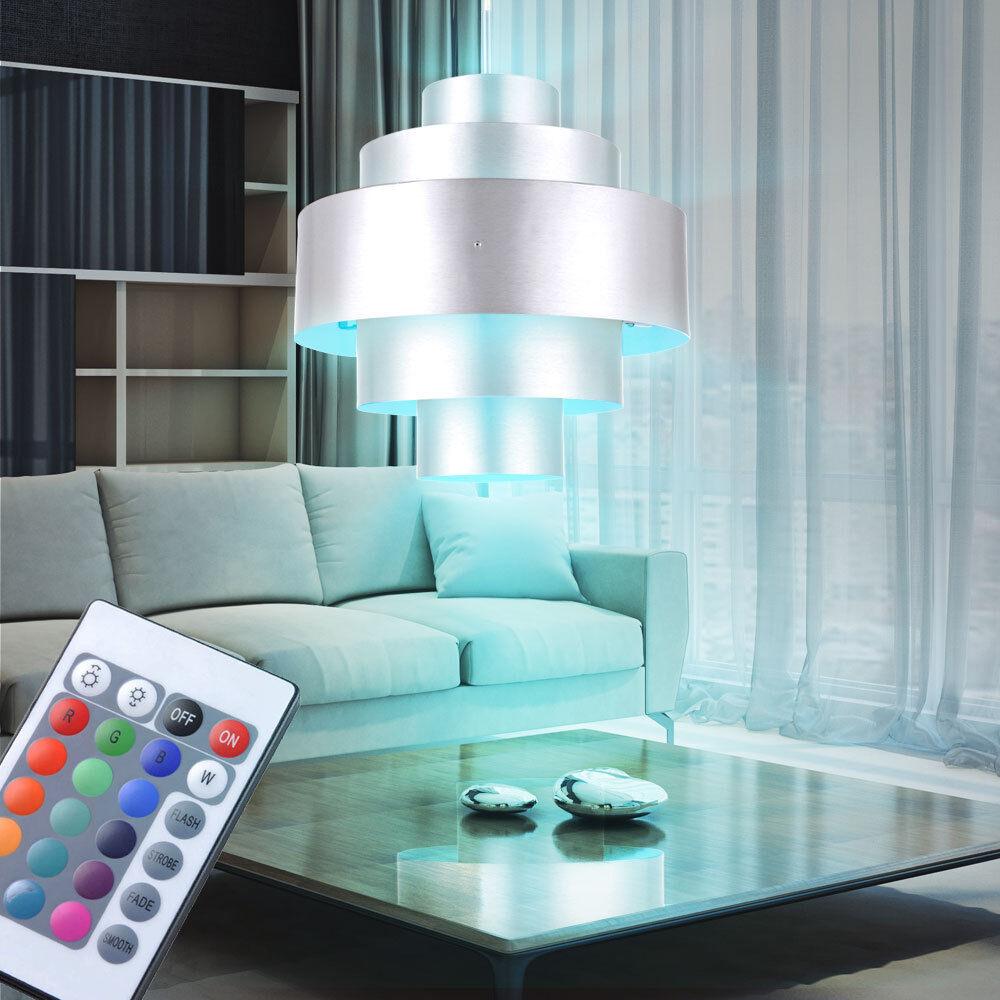 RGB pendentif lampe LED salle à manger plafond spots ALU lumière télévariateur