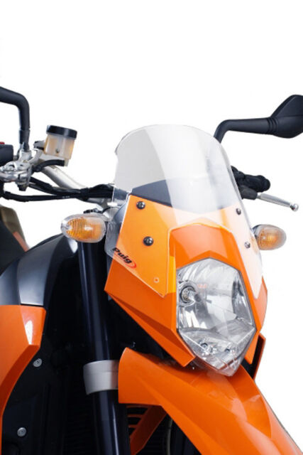 PUIG NAKED WINDSHIELD N.G. SPORT FOR KTM 950 SUPERMOTO 05-07 CLEAR