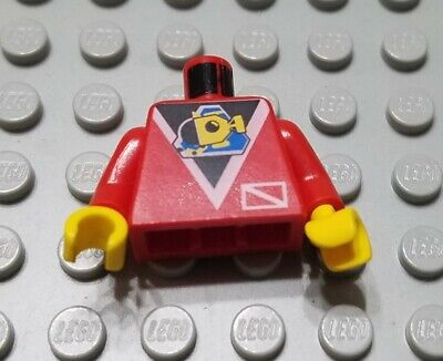 LEGO Alpha Team Minion Black Red Minifig Minifigure Torso Body Part