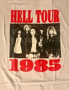 GUNS-N-039-ROSES-cd-lgo-HELL-TOUR-1985-Official-Grey-SHIRT-LRG-new