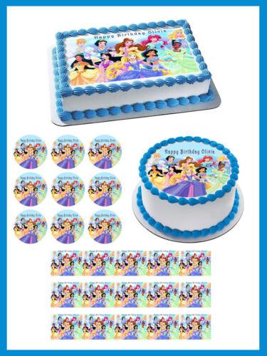 Decor DISNEY PRINCESS Edible Cake Topper OR Cupcake Topper