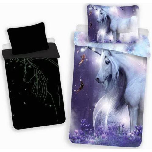 Unicorn /& fées Glow in Dark Réversible Simple Parure De Lit 140 x 200 cm