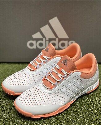 Adidas Women's Adipure Sport DA9133 Golf Shoes White/Coral 6.5 Medium #76250 | eBay