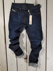 Rrp-144-Nuovo-Jeans-Diesel-Uomo-Buster-0823K-Regular-Slim-Tapered-Blu