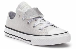 4c3a0baaa4cf62 Girls  Converse Chuck Taylor All Star Double Tongue Glitter Sneakers ...