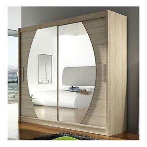 Wardrobe Bega 4 With Sliding Doors Mirror Hanging Rail