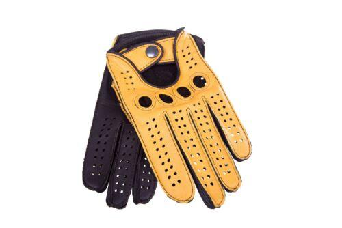 Men/'s Driving Leather Gloves Deerskin Car Gloves  Black Beige Brown Tan