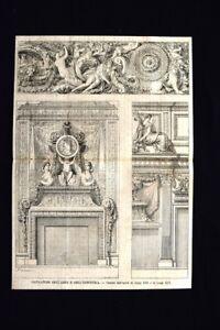 Camini-dell-039-epoca-di-Luigi-XIII-e-di-Luigi-XIV-Incisione-del-1869
