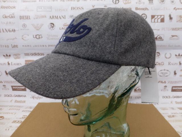POLO RALPH LAUREN Baseball Cap Wool Blend Grey Hat Classic Sport Caps BNWT  RP£49 7e899ac8b537