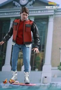 HOT-TOYS-Sideshow-BTTF-Marty-MC-Fly-Version-1-6-1-6-12-034-Figur-MMS379