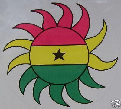 Sticker Ghana Burst Window Decal Flag
