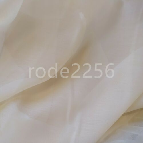 Voile Fabric Ivory Cotton Look Muslin 300cm wide Wedding craft Cream White