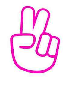 Finger Peace Cartoon