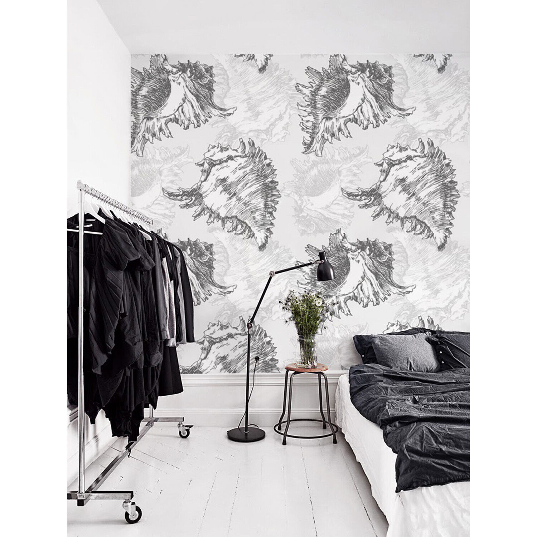 Seashells Renters Nature Pattern Delicate sea design Traditional Wall Mural