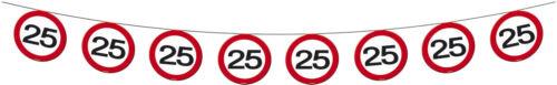 Fanion Chaîne Guirlande Panneau Nombre 25 Anniversaire Décoration Fête