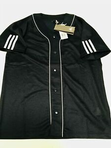 ADIDAS-S-S-Button-Down-Front-Sport-Jersey-Mens-sz-S-Small-Mesh-Shirt-NEW-NWT