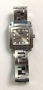 4d3d2302b3c Fendi Orologi Silver Tone White Mother of Pearl Stainless Steel ...