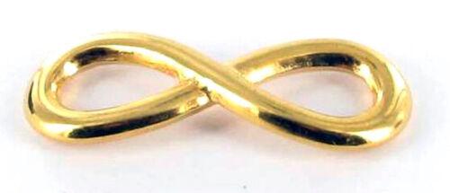 Anhänger aus Metall Symbol Unendlichkeit Golden Megacrea