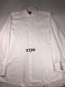 Hugo-Boss-295-Black-Label-SZ-16-33-Men-039-s-Mark-Sharp-Fit-Dress-White-Shirt-2726U