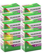 10-Rolls Fuji C200 Color Prints Film 35mm