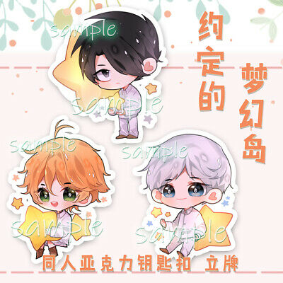 Yakusoku no The Promised Neverland Emma Norman Ray Keychain Stand Charms |  eBay