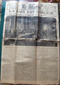 Le-Matin-29-06-1919-La-Paix-est-conclue-Signature-du-Traite-de-Versailles