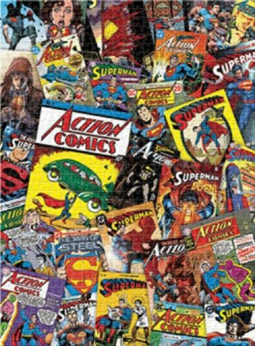 Jigsaw puzzle Entertainment DC Comics covers Superman montage 1000 piece NEW