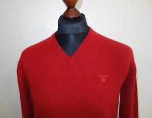 Wool Lambs 100 Mens Jumper L Gant Sweater Taglia AqXwF6xR
