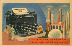 Colorpicture-Giant-Underwood-Master-Typewriter-New-York-World-039-s-Fair-11259