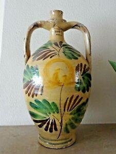 poterie-grande-cruche-a-deux-oreilles-en-terre-vernissee-fleur