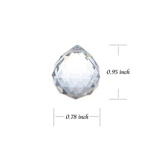 Clear Crystal Ball Prism Feng Shui Hanging Drop Chandelier Pendant Suncatcher
