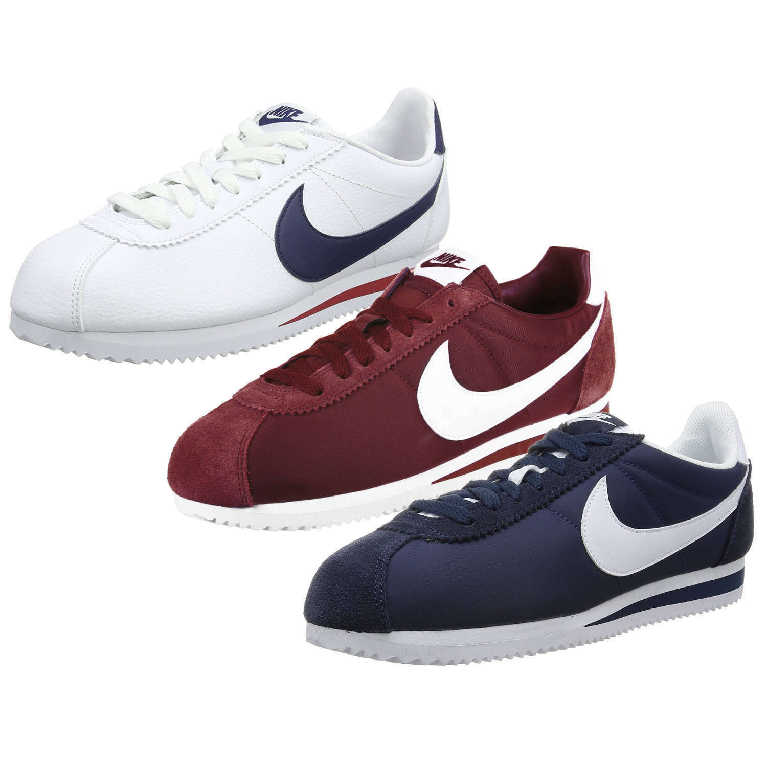NIKE CLASSIC CORTEZ NYLON / LEATHER Uomo SNEAKERS TRAINERS SPORT Scarpe NEW