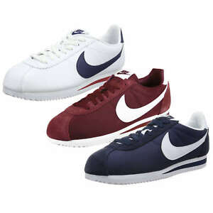 hot sale online ab6cb 7bf7e ... order image is loading nike classic cortez nylon leather men sneakers  trainers f8591 14ff3