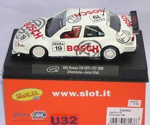 SLOT.IT CA45A ALFA ROMEO 155 V6TI #19 ITC 199 SILVERSTONE BOSCH JASON WATT