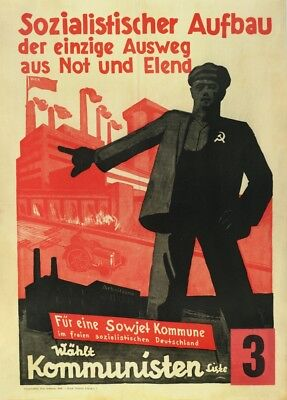 SOCIALIST CONSTRUCTION IS THE WAY German Interwar Communist Propaganda Poster