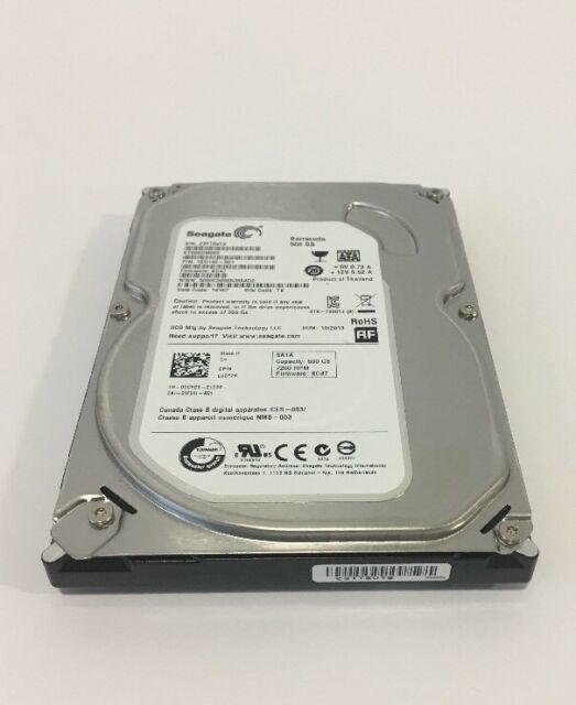 Lot of 10 Seagate Barracuda 500GB 7200 RPM Desktop Hard Drives SATA 3.5
