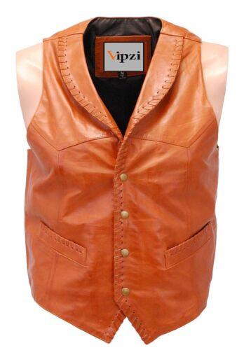 Vest Vintage Vipzi lamsvacht All Size Western wasachtige Men q7fAw8