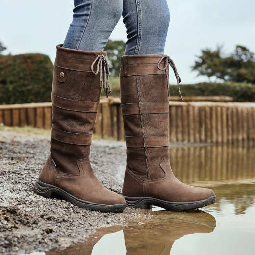 Dublin River Boots,Waterproof & Breathable Long Country Riding Boots, All Sizes