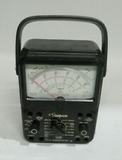 Simpson Electric 260 8p Analog Multimeter Tested Series 8p Cracked Plastic