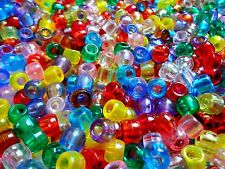 Lot of 20,000 Transparent Pony Beads 9mm Assorted Colors Art Craft Supplies Bulk