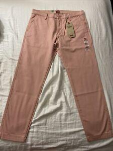 Levi's XX Chino Standard Taper Mens Pants Rose Pink Stretch Regular Fit 33/30