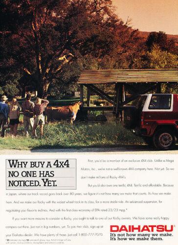 Classic Vintage Advertisement Ad H10 1991 Daihatsu Rocky SUV 4x4