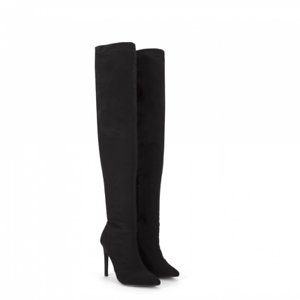 ec8317f5c12 Womens Stiletto Heel Pointed Toe Over The Knee Thigh High Boots ...