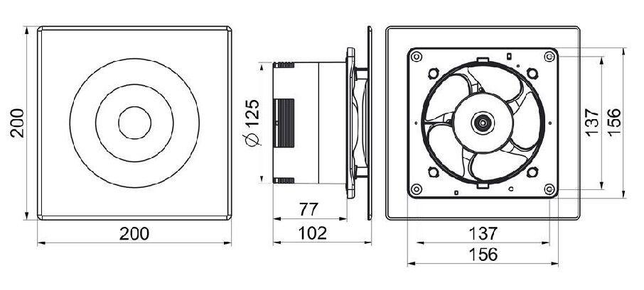 Ständig Laufen Sauglüfter 125mm Timer Feuchtigkeitssensor Keller Wl125h       | Ausgewählte Materialien  | Lassen Sie unsere Produkte in die Welt gehen  | Zarte  4131f2