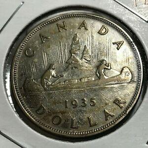 1935-CANADA-SILVER-DOLLAR-NICE-CROWN