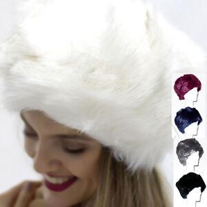 Caricamento dell immagine in corso Cappello-eco-pelliccia-colbacco-uomo- donna-nero-blu- ba4738dd2ebe